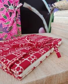 สมุดโน๊ตผ้าปาเต๊ะ (ปกถอดได้)